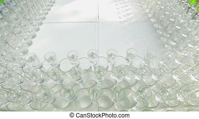 Many cocktails - wine glasses with various alcoholic...