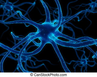 nerve cell - 3d rendered illustration of a nerve cell
