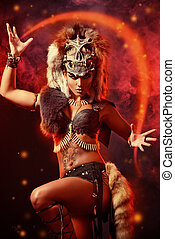 dancer amazon - Amazing bellicose Amazon woman in battle....