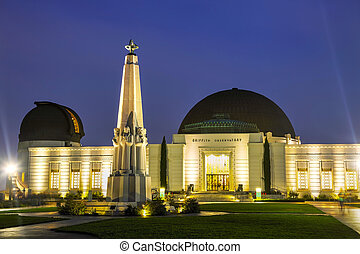 Griffith observatory in Los Angeles in the night