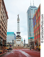 The State Soldiers and Sailors Monument in Indianapolis,...