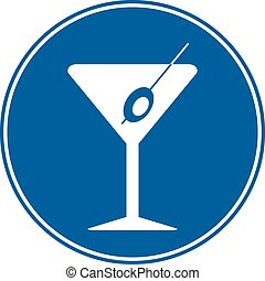 Martini sign is allowed to drink on white background. Vector...