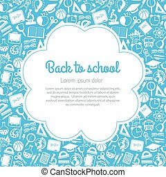 colorful seamless pattern school subjects, with space for...