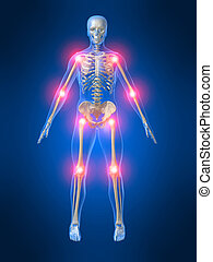 painful joints - 3d rendered illustration of a human...