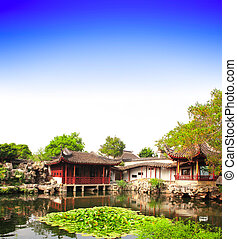 Garden of Fisherman in Suzhou, China. Summer day