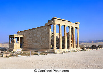 Erechtheum from Athenian Acropolis, Greece - Erechtheum from...