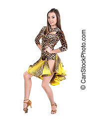 Dancing - Portrait of latino female dancer in action....