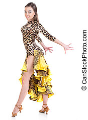 Dancing - Portrait of latino female dancer in action...