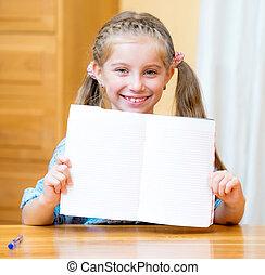 女孩, 空白, 藏品, 簽署