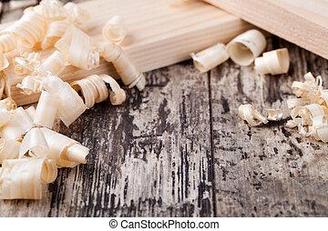 madera, virutas,
