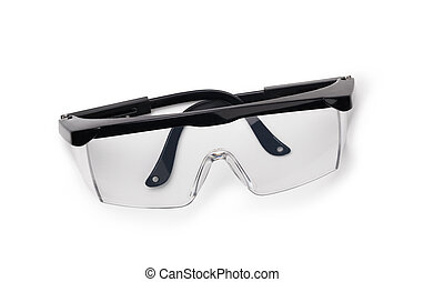protective glasses isolated on a white background