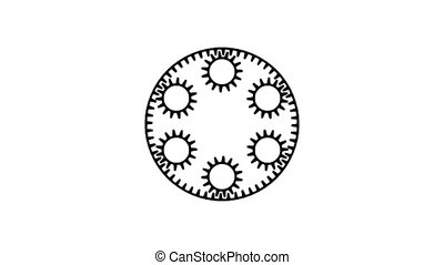GearsT-23ci - Motion background with set of slow rotating...