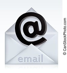 Envelope with e-mail sign