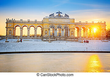 Gloriette at winter, Schonbrunn Palace, Vienna