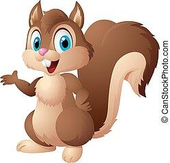 Cartoon squirrel - Vector illustration of cartoon squirrel