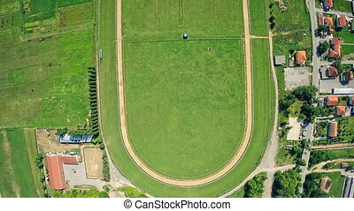 Hippodrome Sinj, aerial shot - Copter aerial view of the...