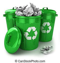 déchets, boîtes,