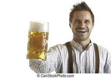 Man holding Oktoberfest Beer Stein