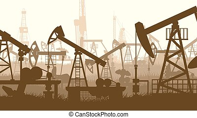 Units for oil industry - Horizontal abstract illustration of...