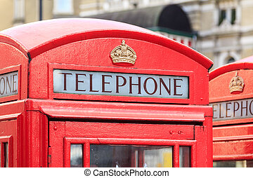 Upper part of a typical London telephone booth - Upper part...