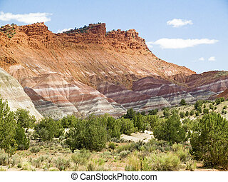 Colorful Paria Cliffs, Utah - Technicolor Cliffs of the...
