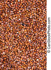 Red Quinoa Background - Portion of red Quinoa (detailed...