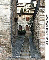 Assisi-Italy - Streets of Assisi in Italy