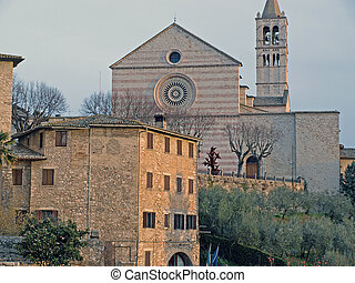 Assisi-Italy - View of Basilica of St.Claire in Assisi,Italy