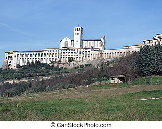 Assisi-Italy - The Basilica of St.Francis and the Sacro...