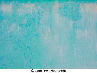 Azure background - Turquoise cyan aqua paint background