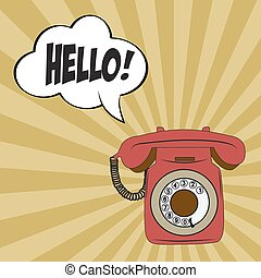 Retro, teléfono,