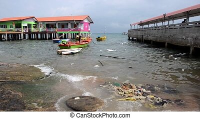 post-tsunami Pollution - thailand, sea pollution