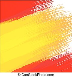 Grunge background in colors of spanish flag