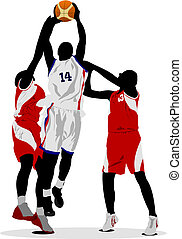 Basketball players Vector illustration