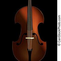 abstract fiddle - black background and a large abstract...
