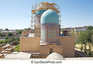 Samarkand - Double dome mausoleum of the beginning of the...