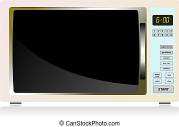 Kitchen equipment Microwave oven Vector illustration