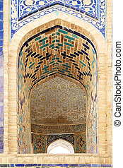 Samarkand - Architecture details of the building at the...