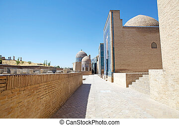 Samarkand - Shah-i-Zinda central group, Samarkand,...