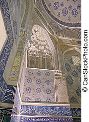 Samarkand - Architecture details of the Shirin Beka...