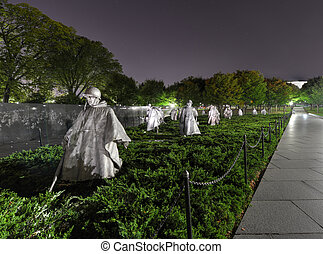 Korean War Memorial, Washington, DC - Korean War Veterans...