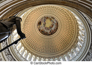 Dome inside of US Capitol, Washington DC - The dome inside...