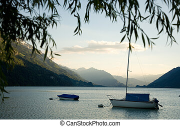 Boats on the Lake of Brienz