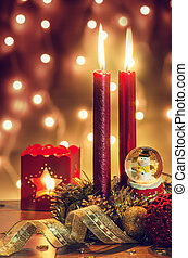 Christmas Ambiance - Traditional Christmas decorations with...