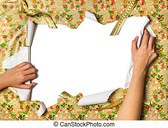 Unwrapping Gifts - Unwrapping gifts by ripping the paper and...