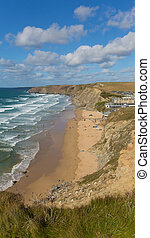 Beach Watergate Bay Cornwall uk - Watergate Bay Cornwall...