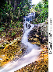 Huay Kaew Waterfall - Beautiful silky waterfall flow through...