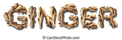 Ginger Root - Ginger root health food concept as the asian...