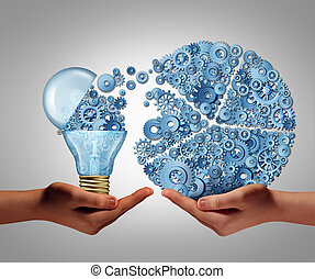 Investing In Ideas - Investing in ideas business concept and...