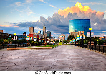 Indianapolis skyline - Indianapolis downtown as seen from...